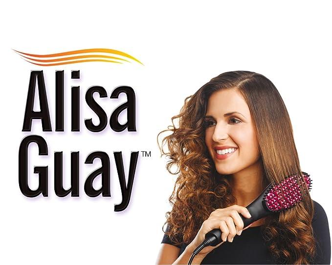 ALISA GUAY - El cepillo alisador de cerámica que combina el poder de una plancha con la suavidad del cepillo - El original de la TV: Amazon.es: Salud y ...