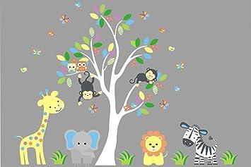 Amazoncom Animal Wall Stickers Nursery Wall Stickers Large - Nursery wall decals amazon