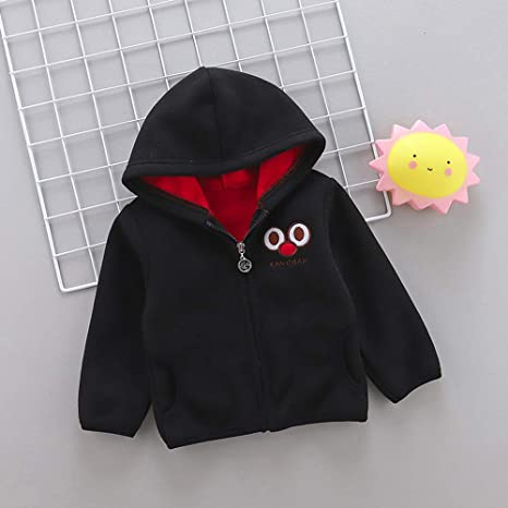 ... Toddler Baby Little Boy Girl Cartoon Long Sleeve Hoodie Fleece Winter Warm Outwear Coat Jacket for 0-3 Y (Age: 18-24 Months, Green): Garden & Outdoor