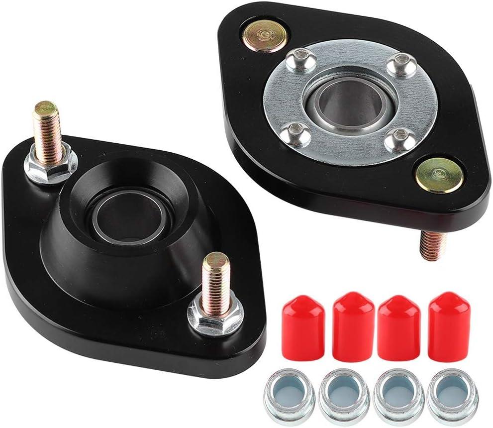 Rear Camber Plates Black Aluminium alloy Car Shock Pillow Ball Rear Upper Camber Plates Top Mount Set Fit For E30 E36 E46