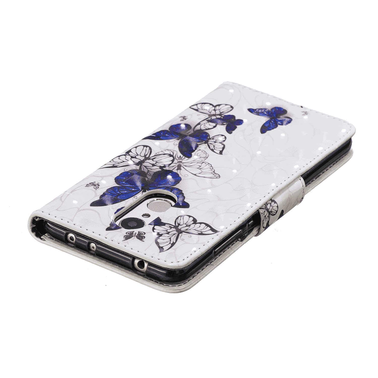 Flip Case for Huawei P20 LITE Leather Cover Business Gifts Wallet with Extra Waterproof Underwater Case