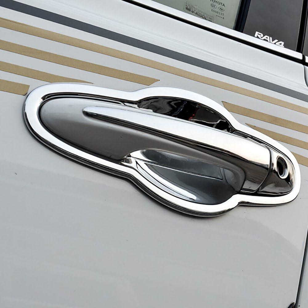 4* Chrome Interior Door Handle Cover Trim Durable Part For Toyota RAV4 2013-2018