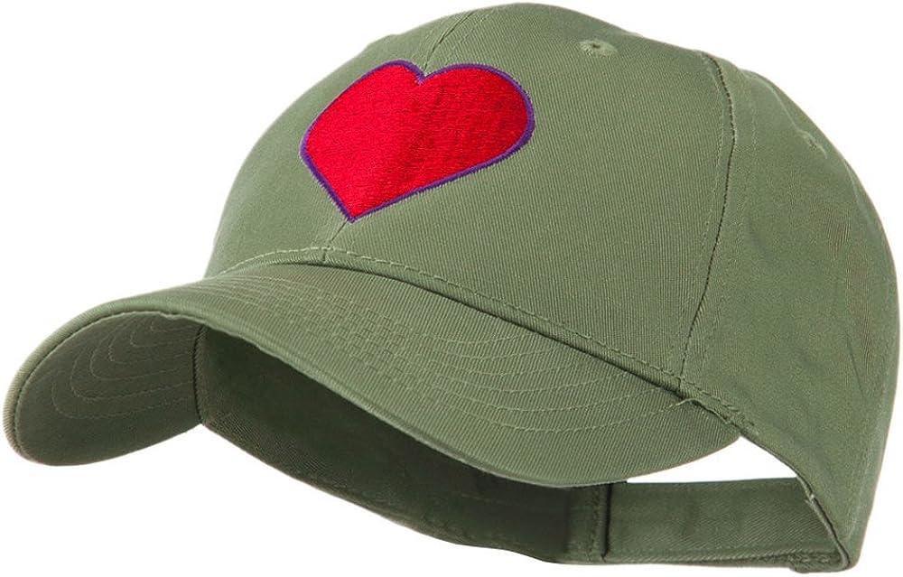 e4Hats.com Filled Heart Symbol Embroidery Cap