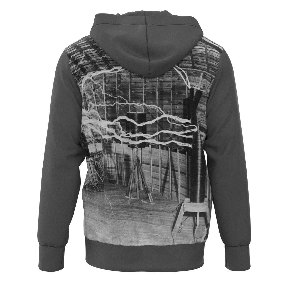 EightyThree XYZ Nikola Tesla Electric Experiment Overhead Hoodie Sweatshirt Size XS-3XL