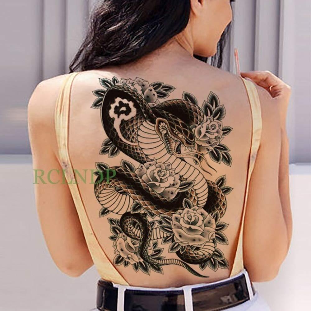 Handaxian 2 Piezas Etiqueta engomada del Tatuaje koi Lotus Hombre ...