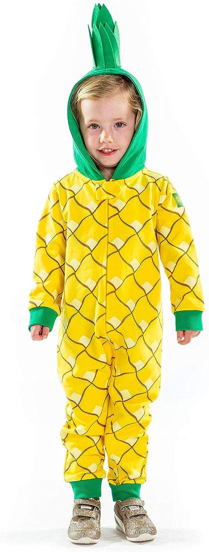 Tipsy Elves Children's Fruit Pineapple Halloween Costume - Infant Kids Baby Pineapple Costume Jumpsuit