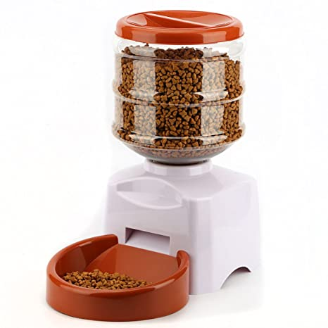 Alimentador automático para mascotas de 5.5 litros con grabación de mensajes de voz, comederos de gran ...