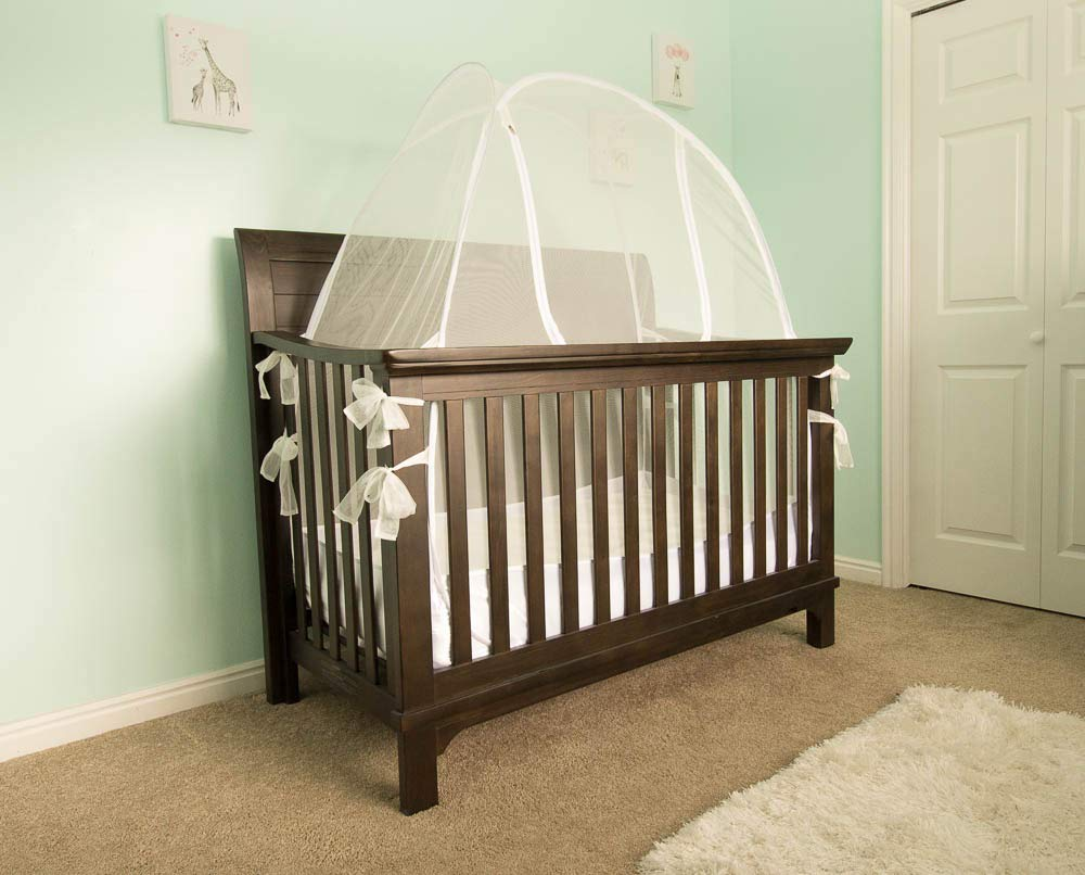 Lullaby Baby Crib Safety Tent CPSC Certified Pop Up See Through Mesh Nursery Mosquito Net Complete with Extra Fitted Crib Sheet by Lullaby Baby (Image #4)