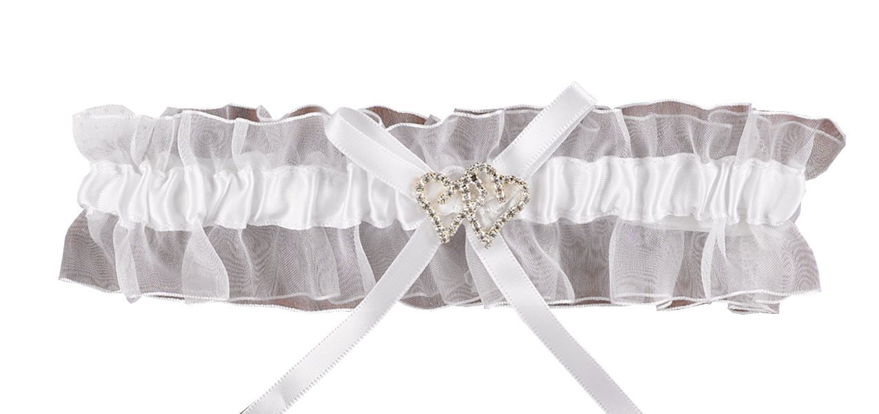 Hortense B. Hewitt Wedding Accessories with All My Heart Brides Garter, Blue 30307