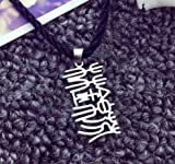 Generic One_pair romantic _texture_texture_ 925 _texture_letter_ name necklace Pendant necklace Pendant s_ Creative gift _smooth_texture_photo