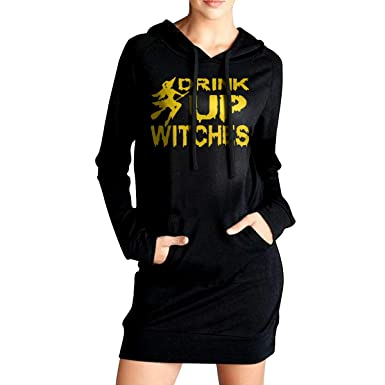 TDYUS DesignName Womens Comfortable Black Fleeces With Pocket