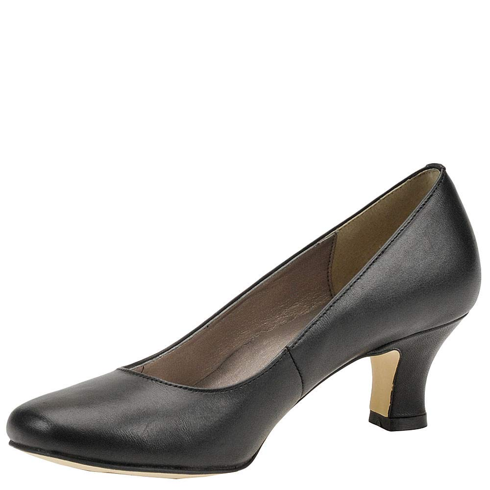 ARRAY Womens Flatter Leather Round Toe Classic Pumps Black Size 12.0