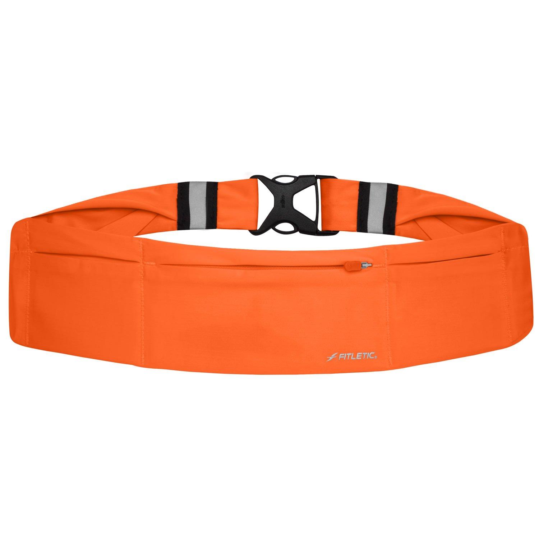 Fitletic Gürtel 360 ° neon 3 Wasserdichte Taschen – schwarz/Orange