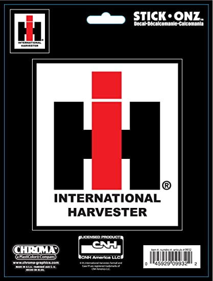 International Harvester Logo >> Amazon Com Chroma 009932 International Harvester Farmall Logo Stick