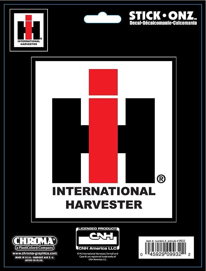 International Harvester Logo >> Chroma 009932 International Harvester Farmall Logo Stick Onz Decal