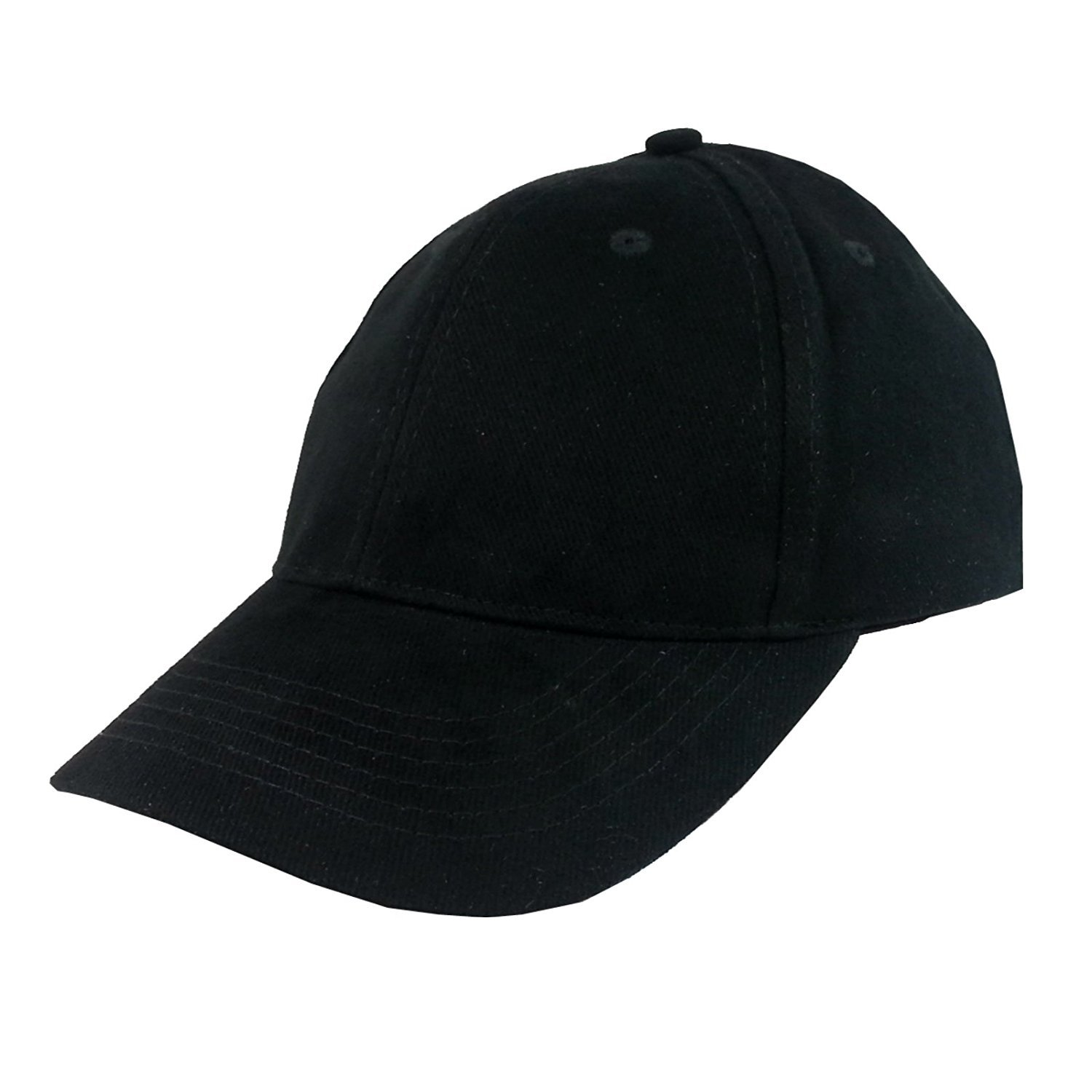 Wholesale Lot of 12 Baseball Cap in Black 100% Cotton by eeMore