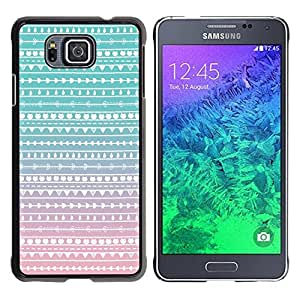 For Samsung GALAXY ALPHA G850 , S-type® Teal Pink White Wallpaper - Arte & diseño plástico duro Fundas Cover Cubre Hard Case Cover