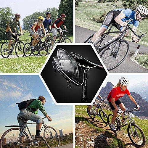 XBoze Bolsa de Sillín Bicicleta Bolsa Sillin Ciclismo Llevar Tres Botellas Mochila Sillin Bici Impermeable Reflexivo para Al Aire Libre Ciclismo (Negro): ...