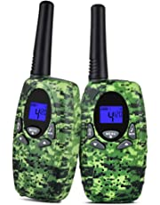 Upgrow 2X Walkie Talkies Kinder Funkgeräte Set 8 Kanäle 2-Wege Radio Walki Talki Funkhandy Interphone mit LCD Display, Kinder Speilzeug und Geschenk (Grün)