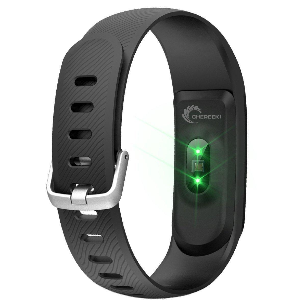 CHEREEKI Pulsera Actividad [versión mejorada] con control de frecuencia cardíaca podómetro monitor, Smartwatch pulsera inteligente de sueño compatible ...