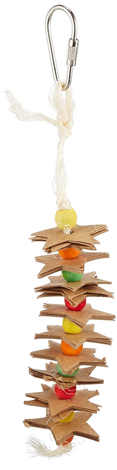Paradise 6.5 by 1.5-Inch Chipboard Stars and Wooden Balls Pet Toy, Small