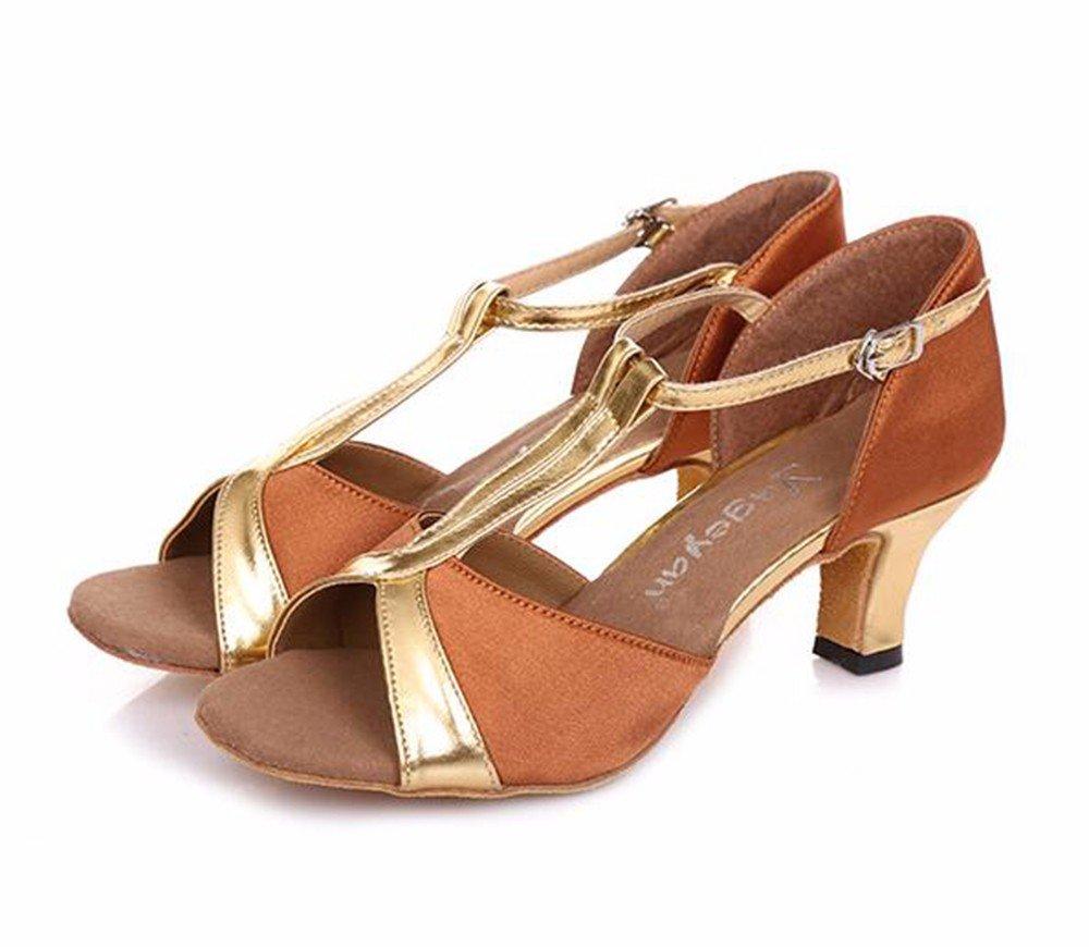 + Au couleur Masocking@ Femme Chaussures de Danse Sandales Les chaussures à talons hauts carrés fond mou de la danse. US8 EU39 UK6 CN39