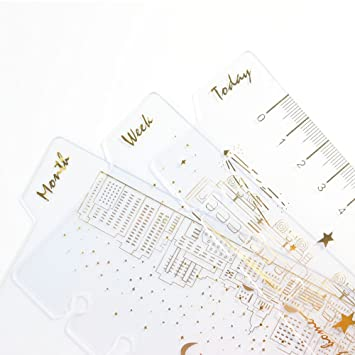 a6//3 pcs creative 6 holes binder planner notebooks gold foil index divider UK
