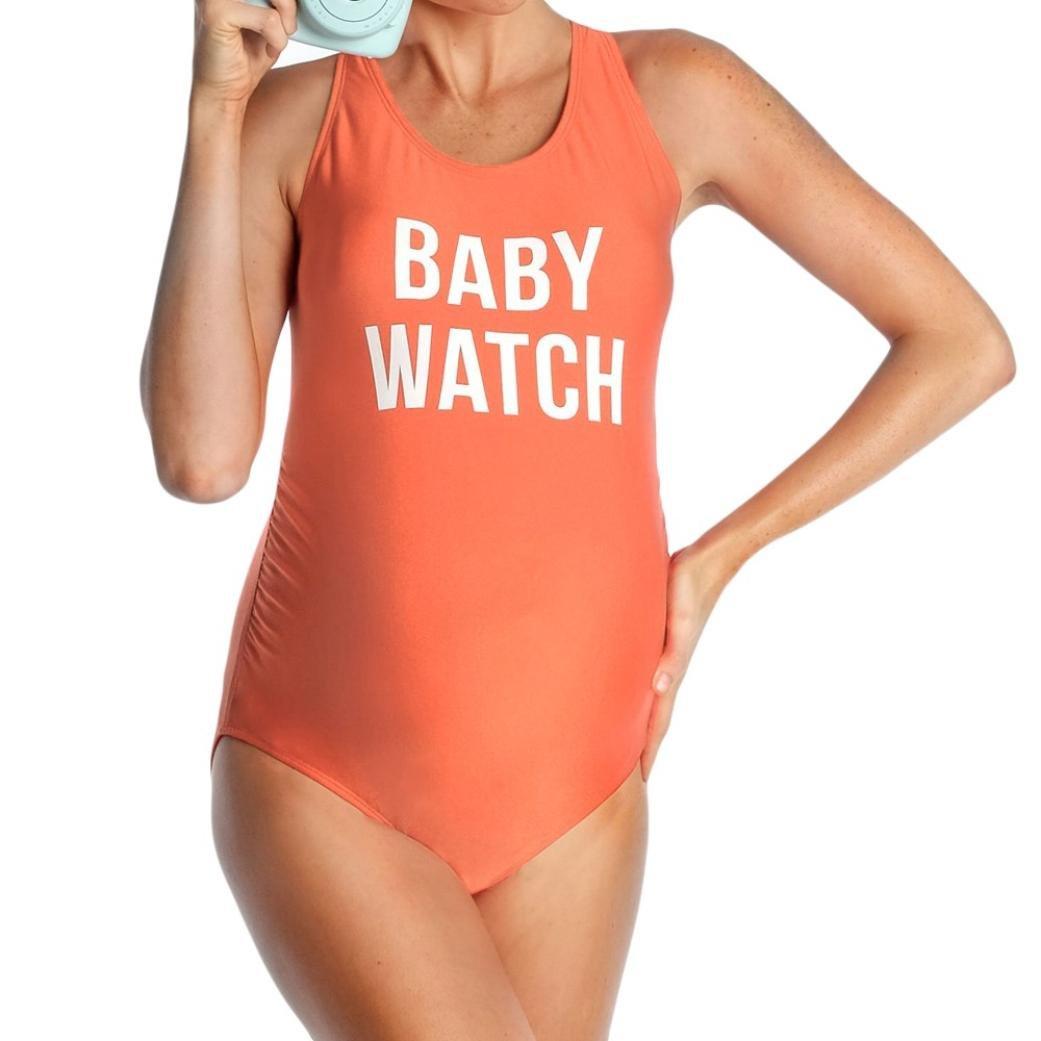 661514c93d1 WuyiMC® Clearance Maternity Tankinis One Piece Letter Print Bikinis ...