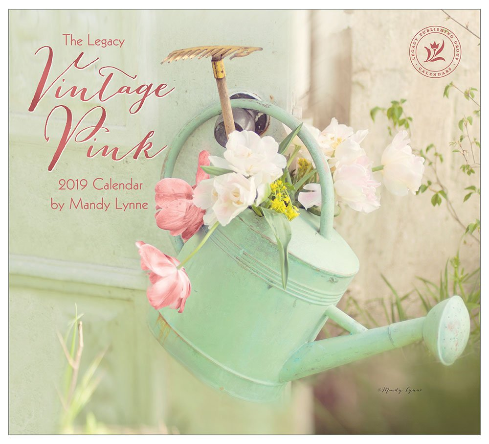 2019 Wall Calendar, Vintage Pink Legacy Publishing Group Inc. WCA46120