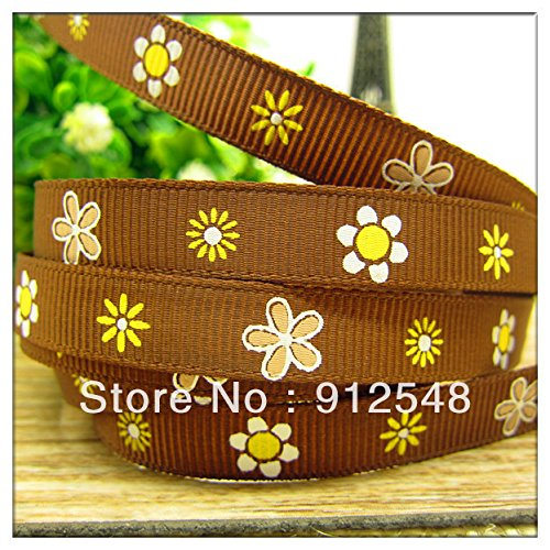 [FunnyCraft 10 Yards 3/8'' (9Mm) Cute Flower Printed Grosgrain Ribbon Polyester Cartoon Ribbon Haribow Accessory Gift] (Cute Maternity Costumes Halloween)