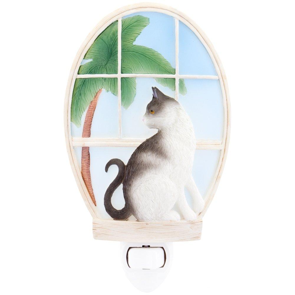 Kitty in Window Ibis & Orchid Night Light