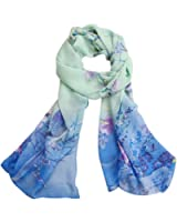 Scarves,Han Shi Women Chiffon Soft Neck Voile Wrap Scarf Stole Shawl Wraps Cover Up
