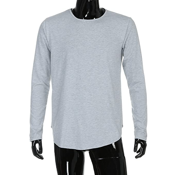 Amazon.com: OrchidAmor Men Slim Fit O Neck Long Sleeve ...