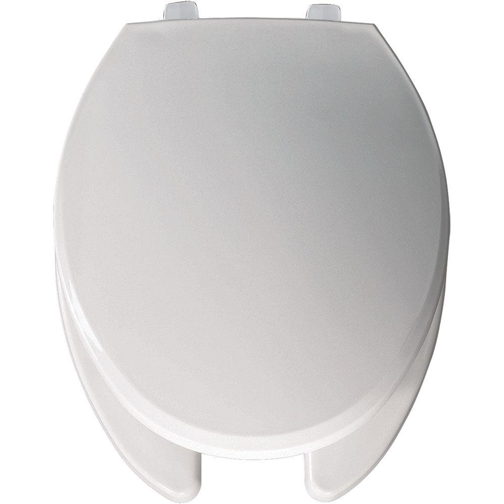 Bemis 7650T 000 Hospitality Plastic Elongated Toilet Seat, White