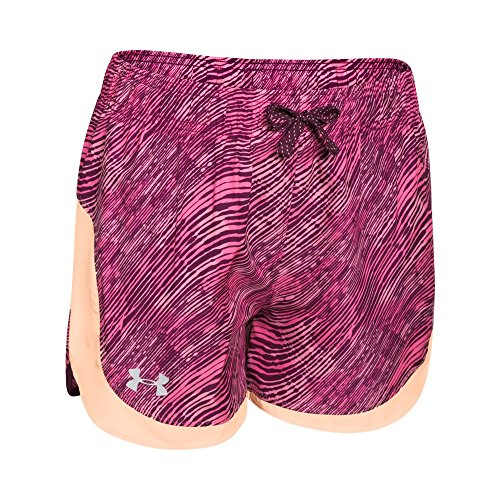 Kids Under Armour Girls Novelty Stunner Short, Peach Frost, LG (14-16 Big Kids) by Under Armour