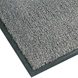 NoTrax T37 Fiber Atlantic Olefin Entrance Carpet Mat, for Wet and Dry Areas, 4' Width x 8' Length x 3/8'' Thickness, Gun Metal