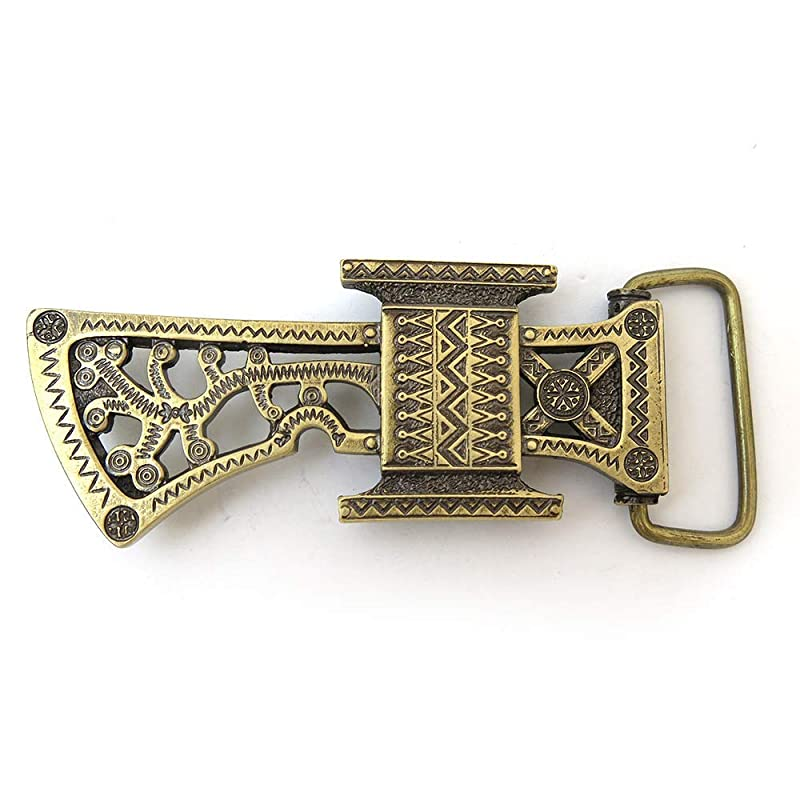 "Ax belt buckle /""Bartka/"" Handmade/&processed Ax belt buckle Solid brass axe buckle"