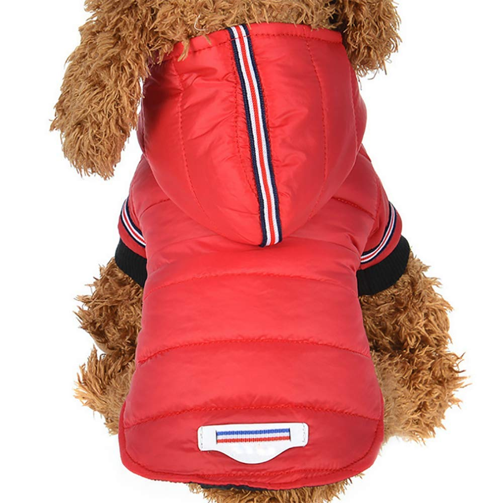 Red Small Red Small Pet Clothes,Thicken Warm Winter Hoodie Clothing Small Medium Dogs