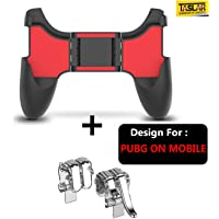 Taslar Combo 2 in 1 PUBG Mobile Game Controller Cellphone Gamepad Accessories Trigger Sensitive Shoot Aim Keys Button L1R1 L2 R2 Shooter Joystick for PUBG/Fortnite/Knives Out/Rules of Survival