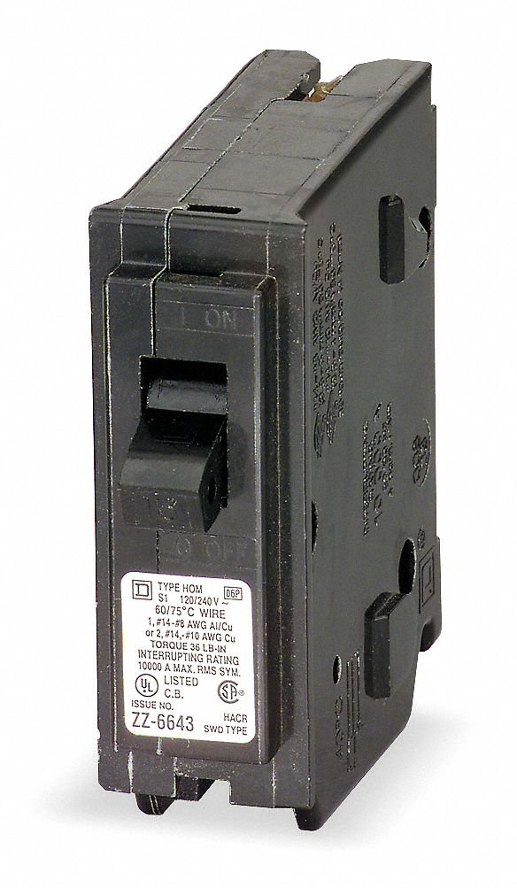 Plug In Circuit Breaker 1P 30 Amp 120/240VAC SQUARE D