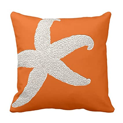 Amazon Emvency Throw Pillow Cover Persimmon Bright Orange Big Mesmerizing Bright Orange Decorative Pillows