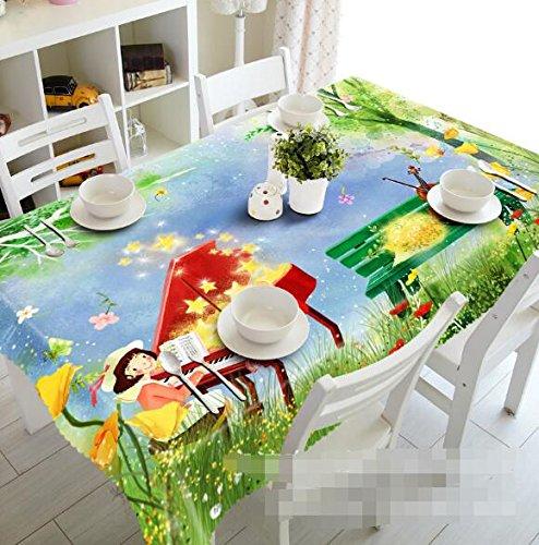 3d hadas niña Piano pradera 809 mantel funda para mesa ...