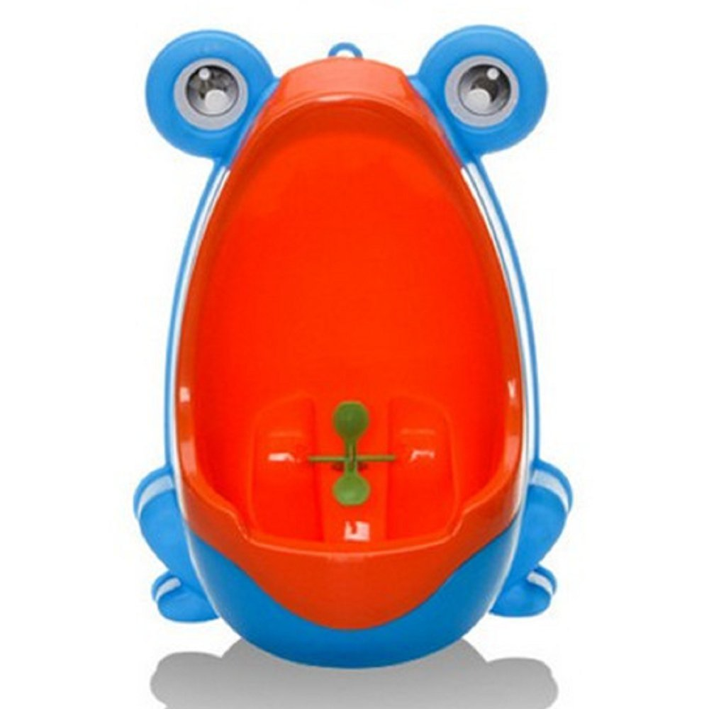 ForuMall Cute Frog Potty Training Urinal for Boys with Funny Aiming Target (Blue)
