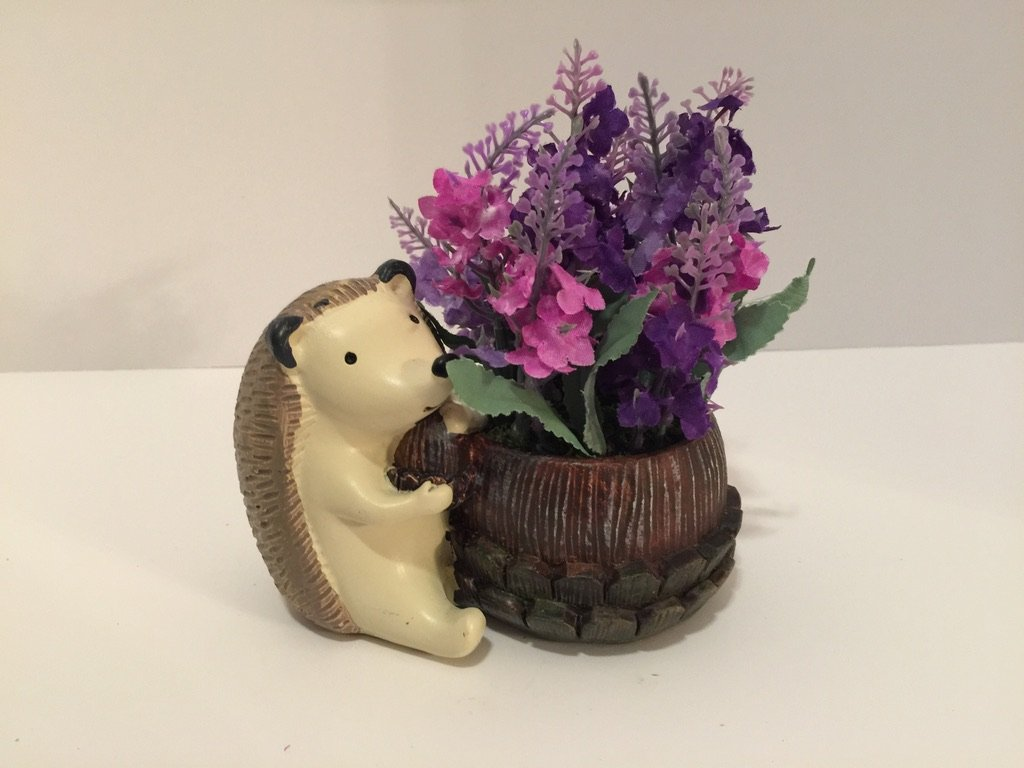 ANIMAL FUN - HEDGEHOG WITH BARREL - PURPLE LILAC by Peters Partners Design