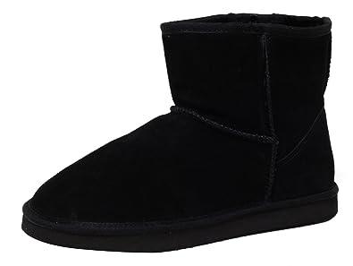ZAPATO EUROPE ECHTES LAMMFELL UND Leder Damen Winter Stiefel Boots  Fellstiefel Kurzstiefel schwarz Gr. 39 2db50e3fb4
