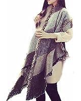 Tonsee® Grand Tartan Echarpe Châle Mode féminine Stole Plaid en laine Tissu glands écharpe