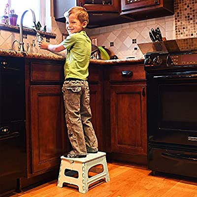 Green Direct Kids Step Stool - Perfect Also As An Adult Step Stool in the Kitchen - Great Bed step stool for bedside use - The Stool is Designed To Be a Folding Step Stool To Save You Space and Enable Easy Layaway