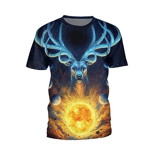 58f275d95235 Amazon.com: Unisex 3D Digital Printing Shirts Stylish Vivid Lifelike Animal  T-Shirt Summer: Clothing