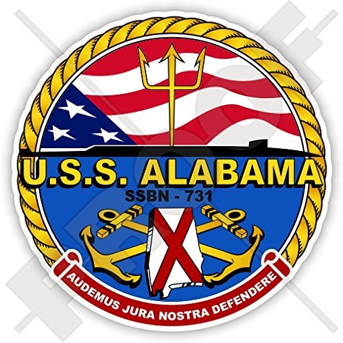 - USS Alabama SSBN-731 Badge US NAVY Ballistic Missile Submarine USA America. American 90mm (3.5