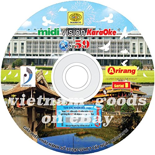 Arirang Karaoke Vision Midi Disc Vol 59 Serial D Vietnamese English For Arirang Player AR 909 HD / AR 3600 HD / AR 3600 KTV